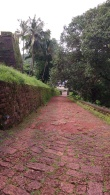 Uphill towards fort - there are shuttle vehicles which can be used